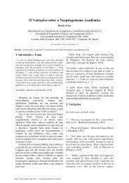 32 Variações sobre o Neopitagorismo Acadêmico - DCA - Unicamp