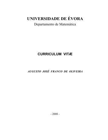 UNIVERSIDADE DE ÉVORA - Centro de Filosofia das Ciências da ...