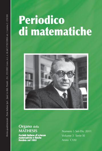 Periodico di matematiche - Mathesis