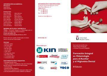 Formacion integral Odontologia - Universidad Rey Juan Carlos