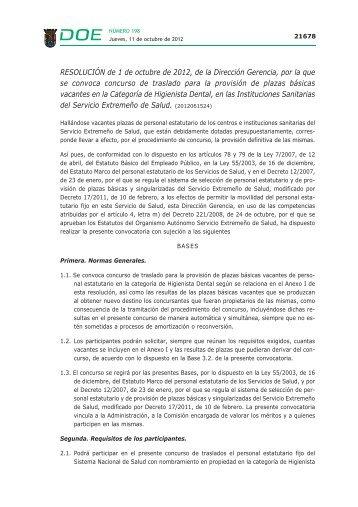 Resolución. - Diario Oficial de Extremadura