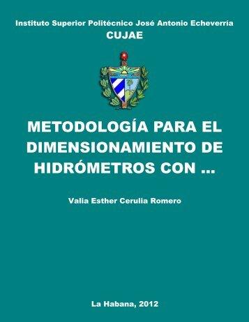 Metodología para el dimensionamiento de hidrómetros con ...