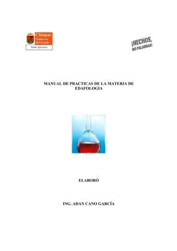manual de practicas de la materia de edafologia - Universidad ...