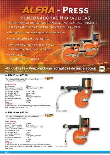 ALFRA-Press – Punzonadoras hidráulicas de única acción - Virma