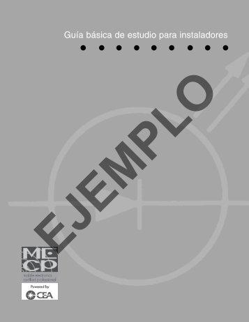 Guía básica de estudio para instaladores - MECP.com