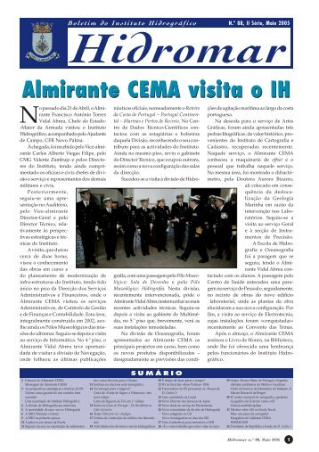 Almirante CEMA visita o IH - Instituto Hidrográfico