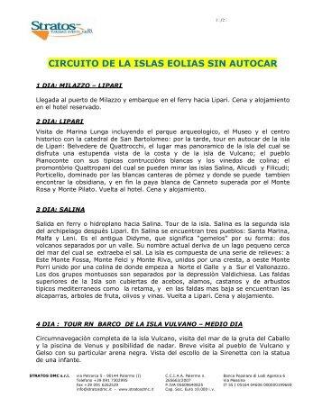 CIRCUITO DE LA ISLAS EOLIAS SIN AUTOCAR - stratosdmc.it