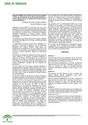 Plan de Ordenación de los Recursos Naturales y el Plan Rector de ...