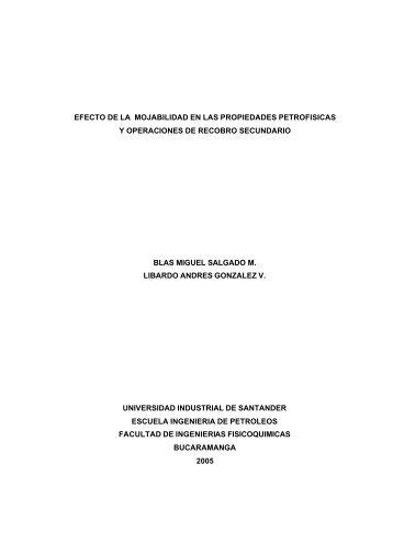 efecto de la mojabilidad en las propiedades petrofisicas y ...