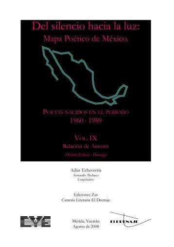 Mapa Po tico - Vol VIII - Relaci n de Autores - Letras - Uruguay