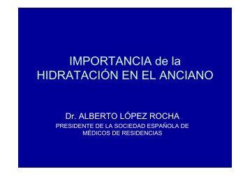 IMPORTANCIA de la HIDRATACIÓN EN EL ANCIANO - Sociedad ...