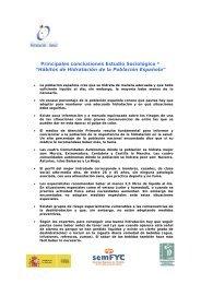 Principales conclusiones Estudio Sociológico - Observatorio de ...