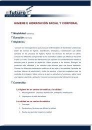higiene e hidratación facial y corporal - Academia el Futuro