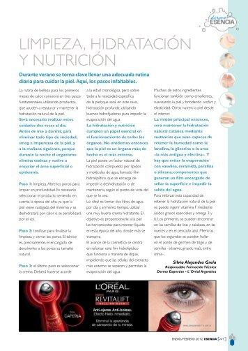Limpieza, hidratación y nutrición - dermo esencia