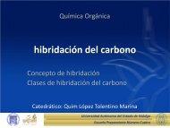 Hibridación del Carbono - Universidad Autónoma del Estado de ...
