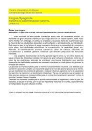 Lingua Spagnola - Centro Linguistico di Ateneo - Università degli ...