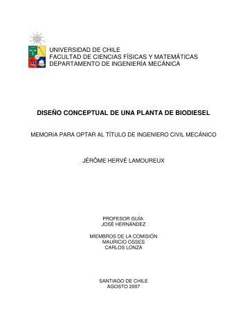 diseño conceptual de una planta de biodiesel - Tesis Electrónicas ...