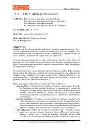 Métodos Heurísticos - Departamento de Produção e Sistemas ...