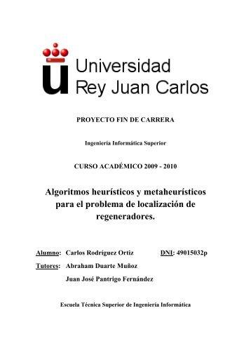 Algoritmos heurísticos y metaheurísticos para el problema de ...