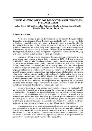 Cap. 3: Purificación de aguas por fotocatálisis heterogénea