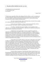3. traduções inéditas de lacan - revistas veredas - Traço Freudiano ...