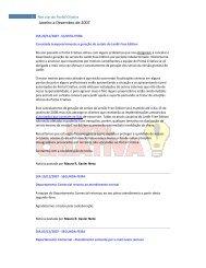 Janeiro a Dezembro de 2007 - Portal Criativa