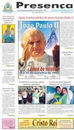 Igreja celebra jubileu de prata de João Paulo II - Unisantos