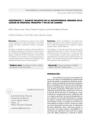 cáncer de próstata - SciELO España