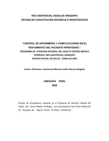 Control de Enfermería y Complicaciones en el - EsSalud