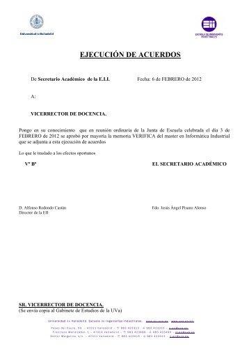 Memoria VERIFICA del master en Informática Industrial.