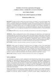1 Idealismos de la forma y apariencias del lenguaje ... - CES Felipe II