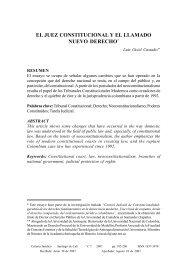 el juez constitucional y el llamado nuevo derecho - Revista Criterio ...