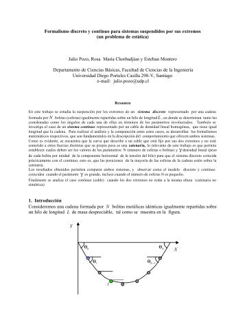 Formalismo discreto y continuo para sistemas ... - Ciencia Abierta