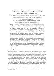 Lingüística computacional: princípios e aplicações - INF-Unioeste