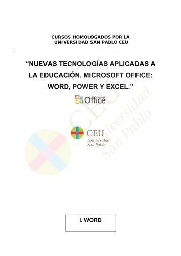nuevas tecnologías aplicadas a la educación. microsoft office: word ...