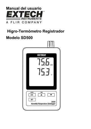 Manual del usuario Higro-Termómetro Registrador Modelo SD500