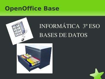 OpenOffice Base INFORMÁTICA 3º ESO BASES DE ... - IES Malilla