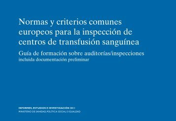 Normas y criterios comunes europeos para la inspección de centros ...