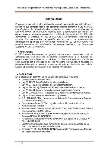 MOF-2012 - Portal del Estado Peruano