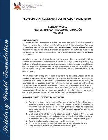 proyecto centros deportivos de alto rendimiento - Solidary World ...