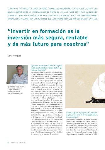 Entrevista al Dr. Mariano Pérez Arroyo, director del