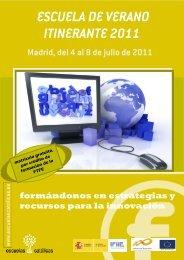 ESCUELA DE VERANO ITINERANTE 2011 - Escuelas Católicas
