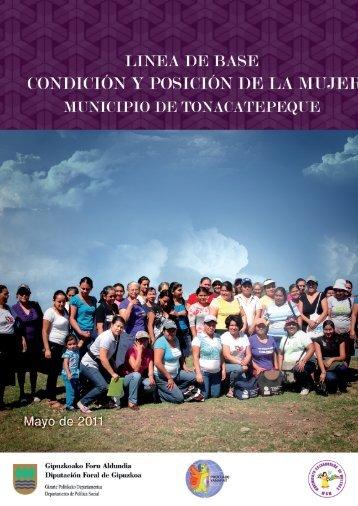linea de base condicion y posicion de la mujer del municipio de ...
