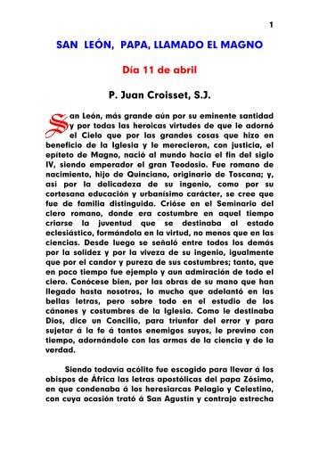 León Magno, Papa y Conf.