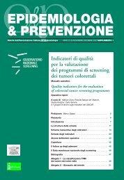 Indicatori di qualità per la valutazione dei programmi di screening ...