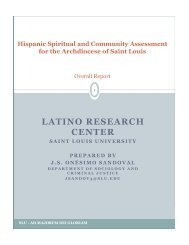 LATINO RESEARCH CENTER - Archdiocese of St. Louis