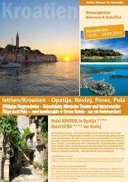 Istrien/Kroatien - Opatija, Rovinj, Porec, Pula - Reiseagentur ...