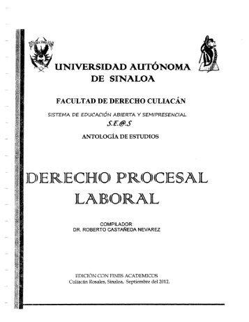 Derecho Procesal Laboral de la 01 a la - facderuasgpo63gen2010 ...