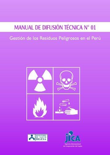 manual de difusión técnica n° 01 - Dirección General de Salud ...