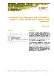 Más allá de la interfaz en los sistemas artísticos de ... - Edutec 2004